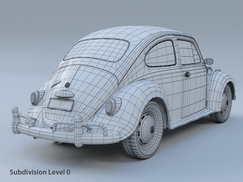 volkswagen beetle fusca 1969 3d model max c4d lxo ma mb  texture obj 299458