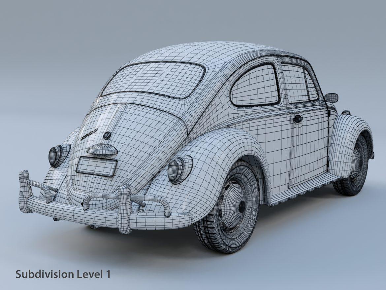 volkswagen beetle fusca 1969 3d model max c4d lxo ma mb  texture obj 299459