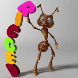 cartoon ant rigged 3d model 3ds max fbx obj 299534