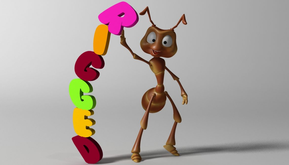 cartoon ant rigged 3d model 3ds max fbx  obj 299535