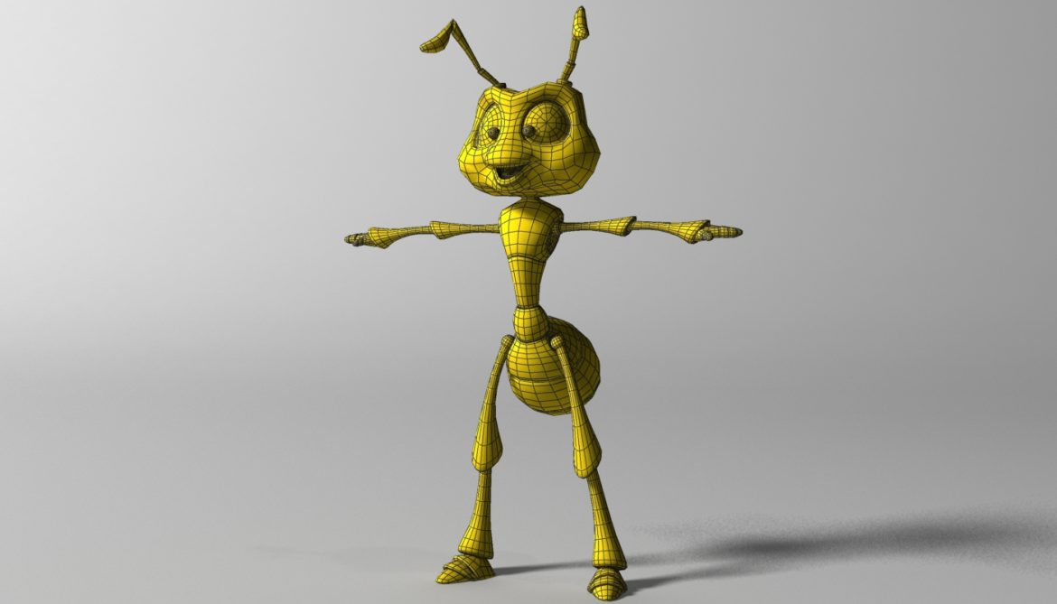 cartoon ant rigged 3d model 3ds max fbx  obj 299540