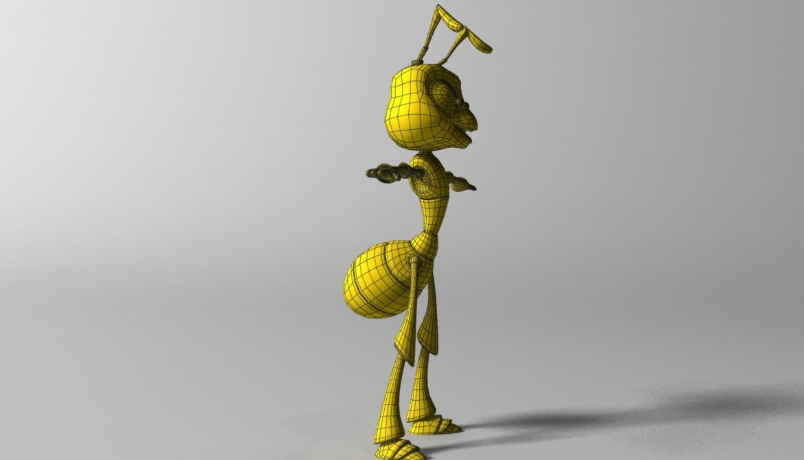 cartoon ant rigged 3d model 3ds max fbx  obj 299541