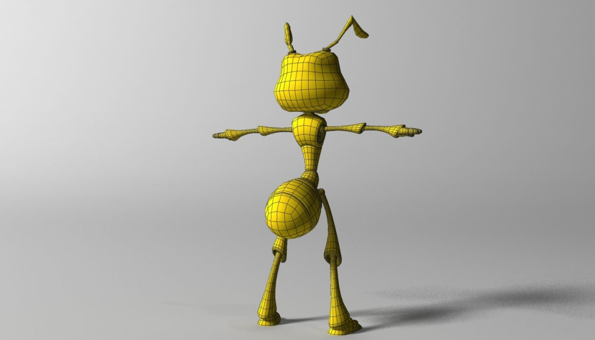 cartoon ant rigged 3d model 3ds max fbx  obj 299542