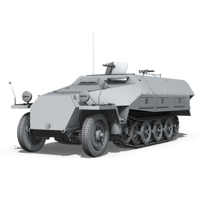sd.kfz 251/1 ausf.d – hanomag half-truck 3d model 3ds fbx c4d lwo obj 299555