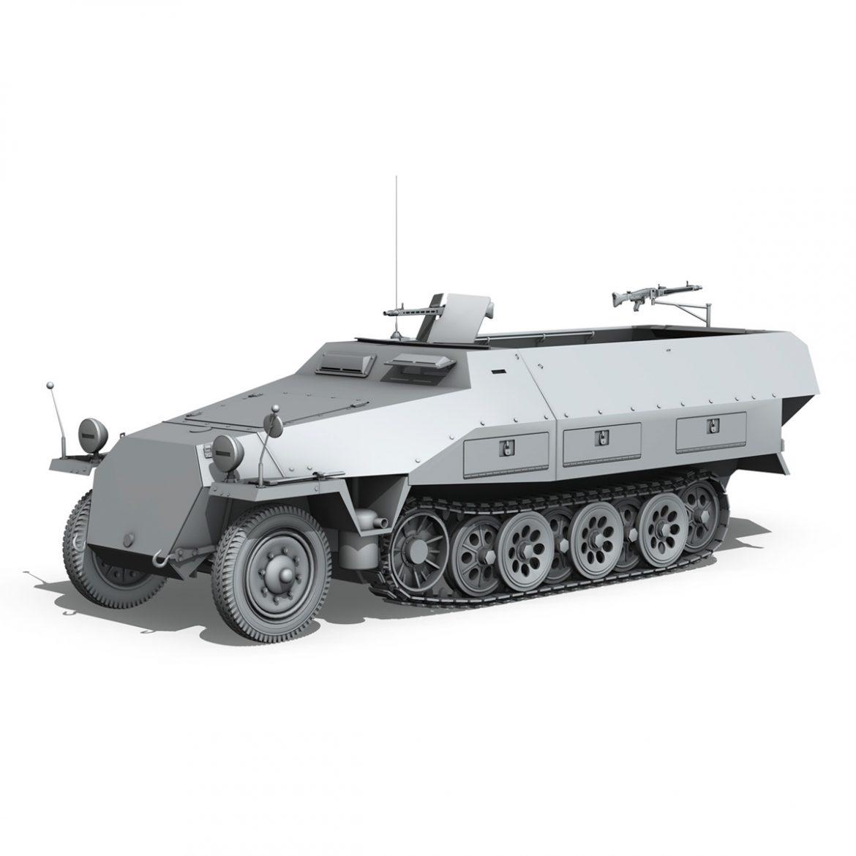 sd.kfz 251/1 ausf.d – hanomag half-truck 3d model 3ds fbx c4d lwo obj 299556