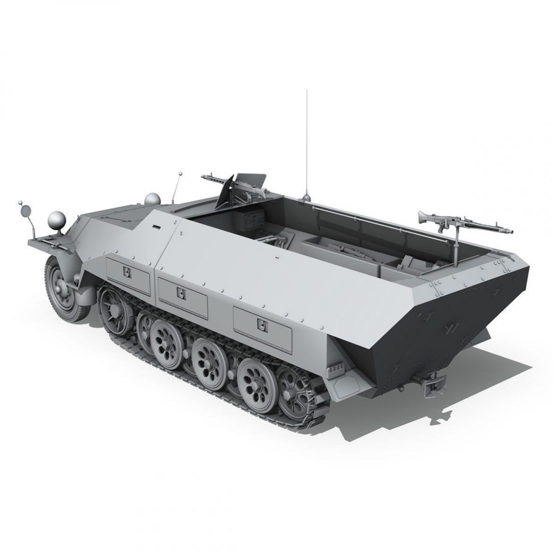 sd.kfz 251/1 ausf.d – hanomag half-truck 3d model 3ds fbx c4d lwo obj 299557