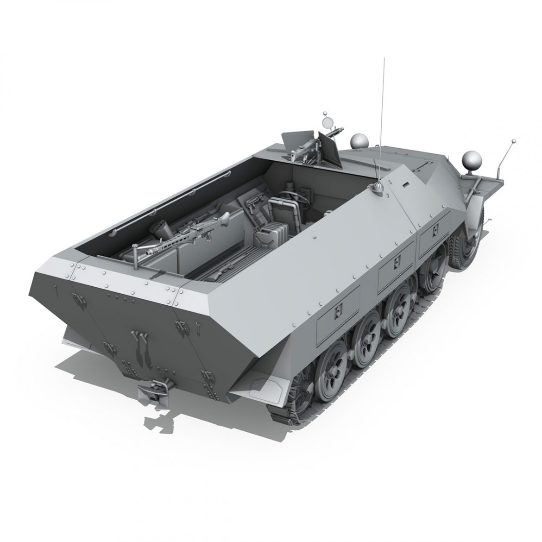 sd.kfz 251/1 ausf.d – hanomag half-truck 3d model 3ds fbx c4d lwo obj 299559