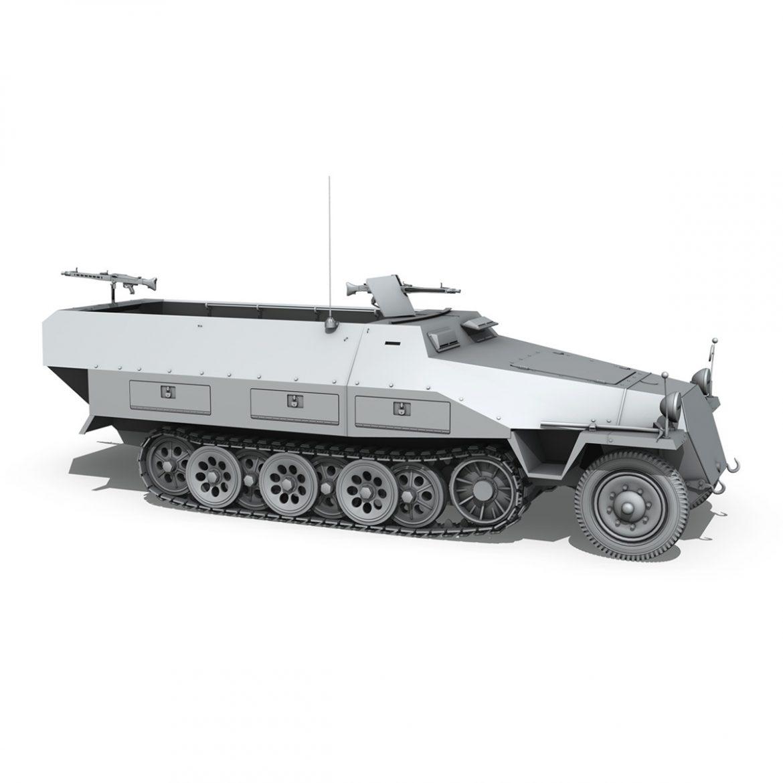 sd.kfz 251/1 ausf.d – hanomag half-truck 3d model 3ds fbx c4d lwo obj 299560