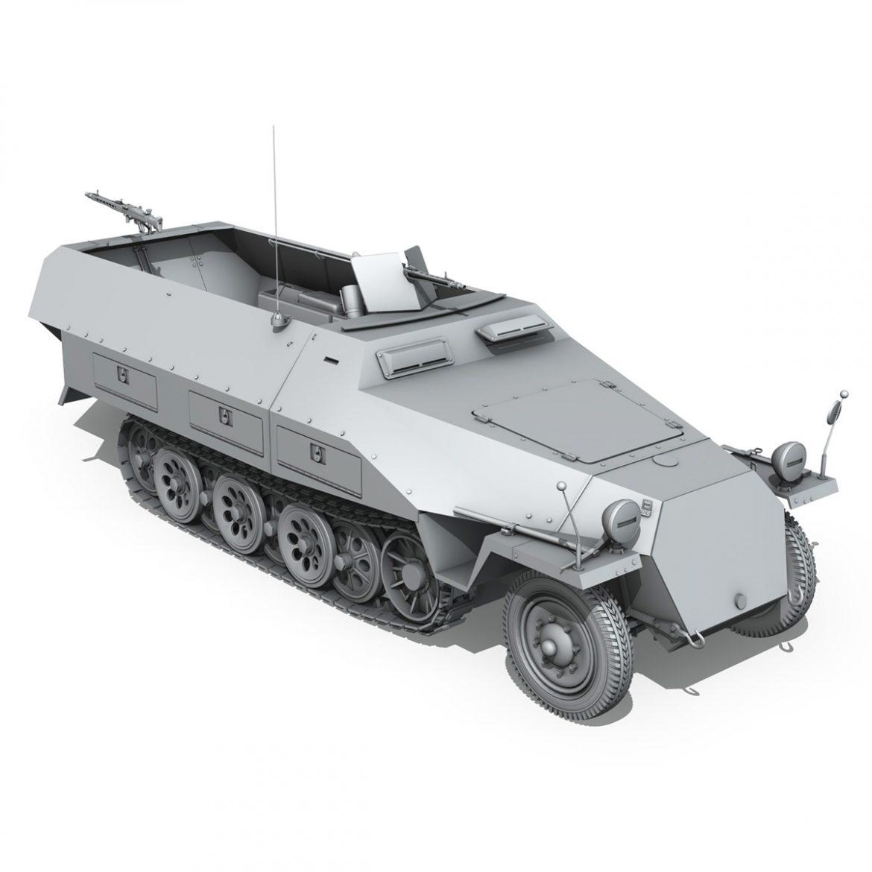 sd.kfz 251/1 ausf.d – hanomag half-truck 3d model 3ds fbx c4d lwo obj 299561