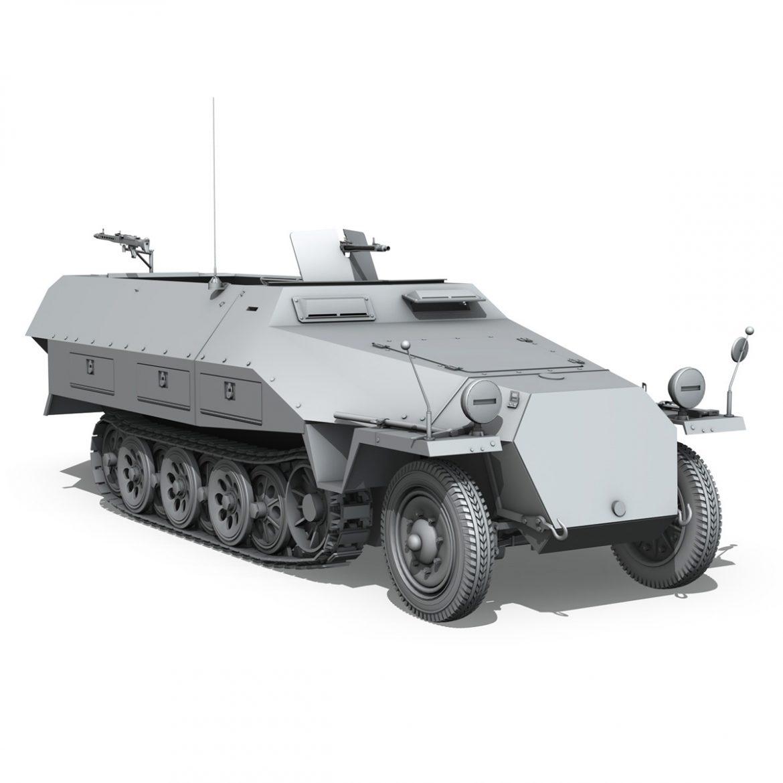 sd.kfz 251/1 ausf.d – hanomag half-truck 3d model 3ds fbx c4d lwo obj 299562