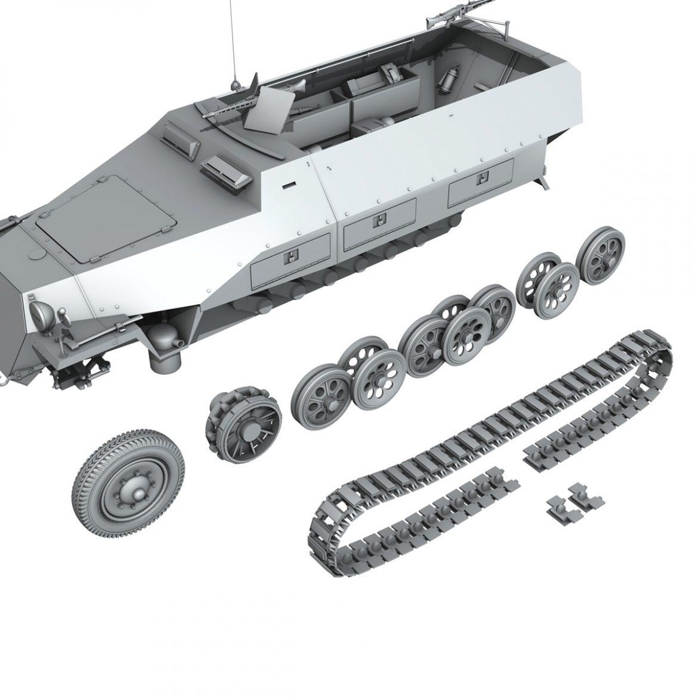 sd.kfz 251/1 ausf.d – hanomag half-truck 3d model 3ds fbx c4d lwo obj 299564