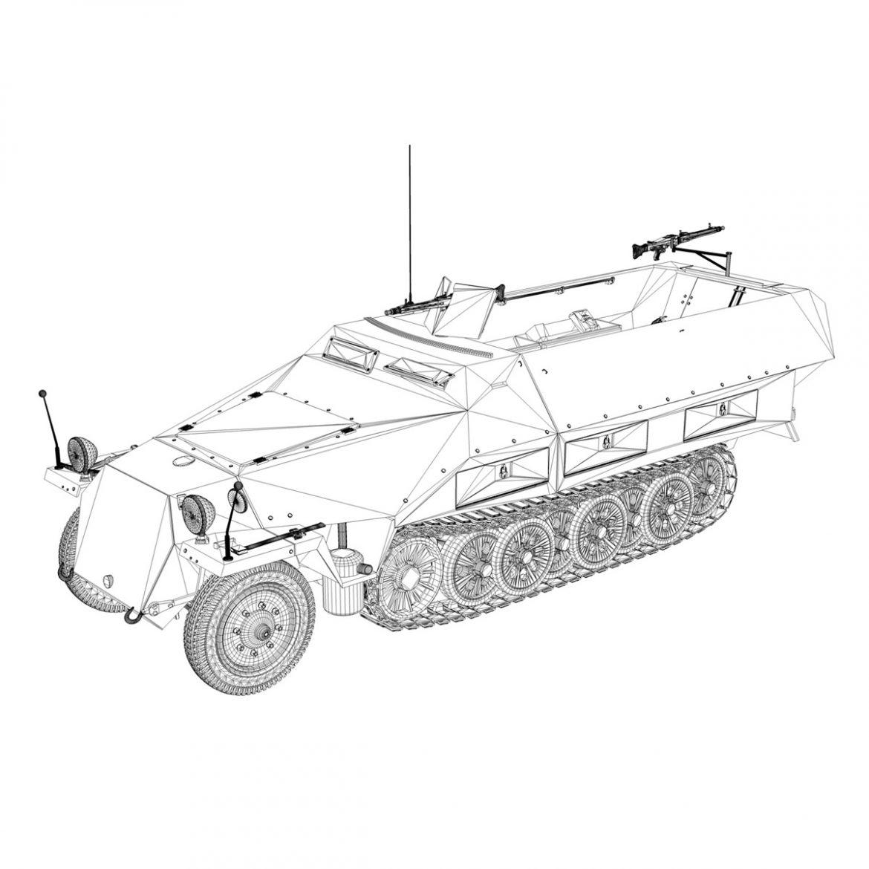 sd.kfz 251/1 ausf.d – hanomag half-truck 3d model 3ds fbx c4d lwo obj 299565