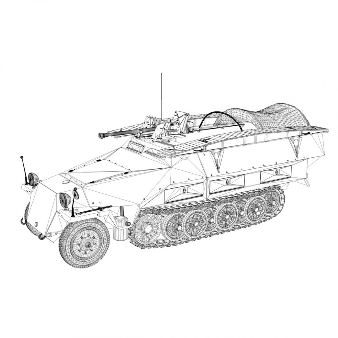 sd.kfz 251/7 ausf.d – assault engineer vehicle 3d model 3ds fbx c4d lwo obj 299583