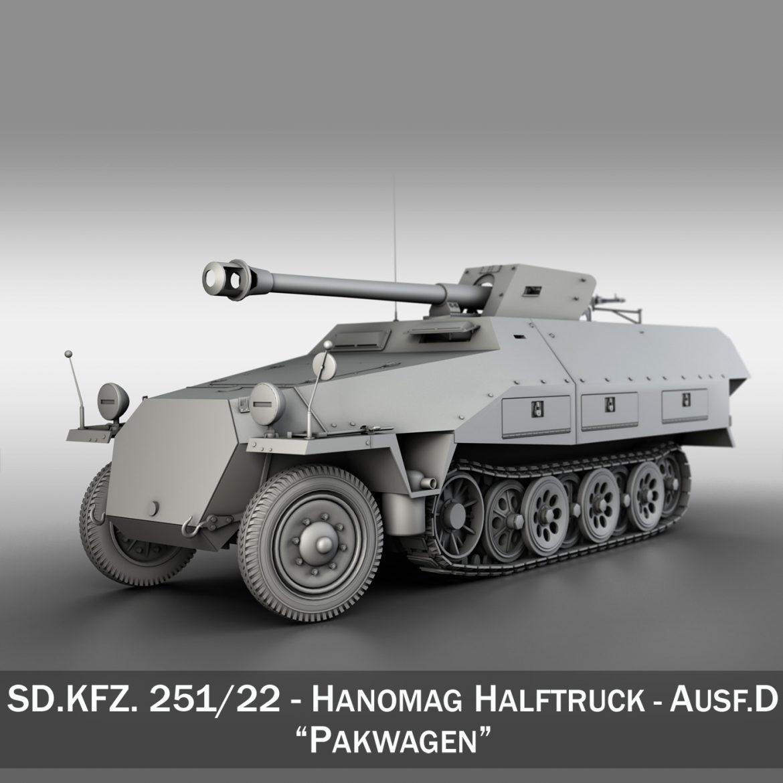 sd.kfz 251/22 – ausf.d – pakwagen 3d model 3ds fbx c4d lwo obj 299591