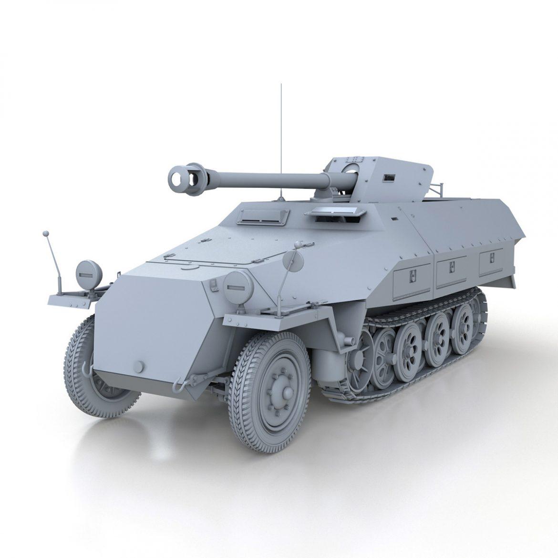 sd.kfz 251/22 – ausf.d – pakwagen 3d model 3ds fbx c4d lwo obj 299592