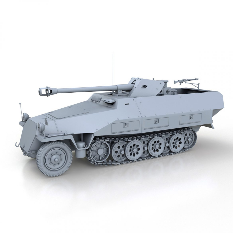 sd.kfz 251/22 – ausf.d – pakwagen 3d model 3ds fbx c4d lwo obj 299593