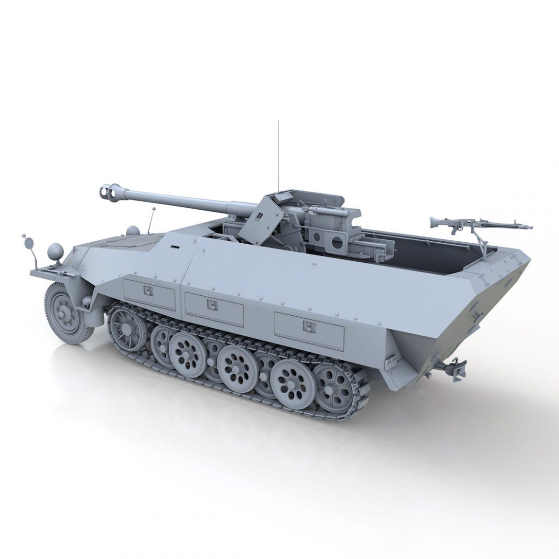 sd.kfz 251/22 – ausf.d – pakwagen 3d model 3ds fbx c4d lwo obj 299595