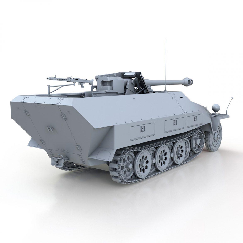 sd.kfz 251/22 – ausf.d – pakwagen 3d model 3ds fbx c4d lwo obj 299597