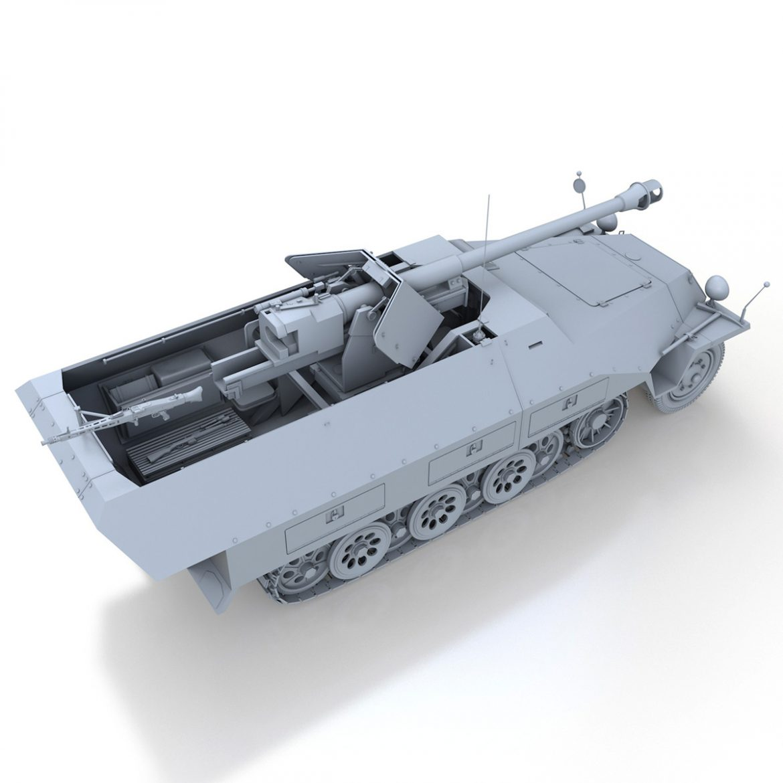 sd.kfz 251/22 – ausf.d – pakwagen 3d model 3ds fbx c4d lwo obj 299599