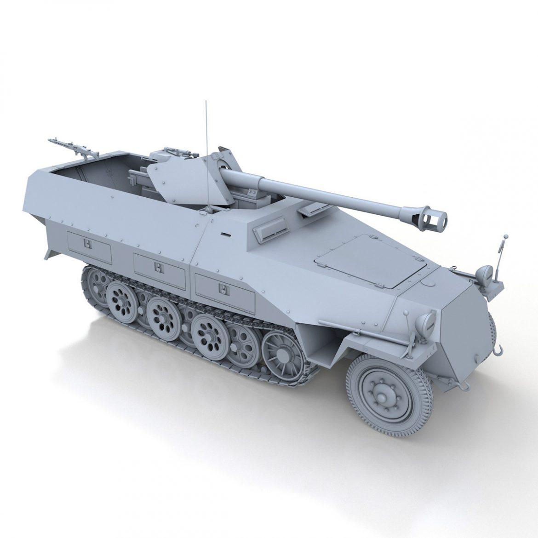 sd.kfz 251/22 – ausf.d – pakwagen 3d model 3ds fbx c4d lwo obj 299600