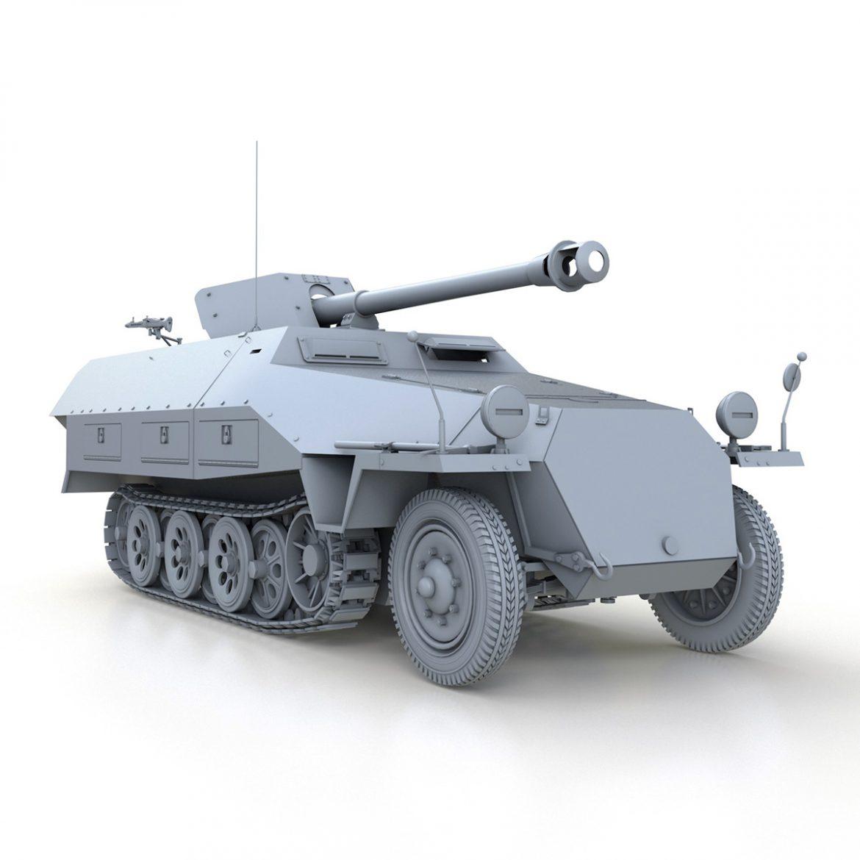 sd.kfz 251/22 – ausf.d – pakwagen 3d model 3ds fbx c4d lwo obj 299601