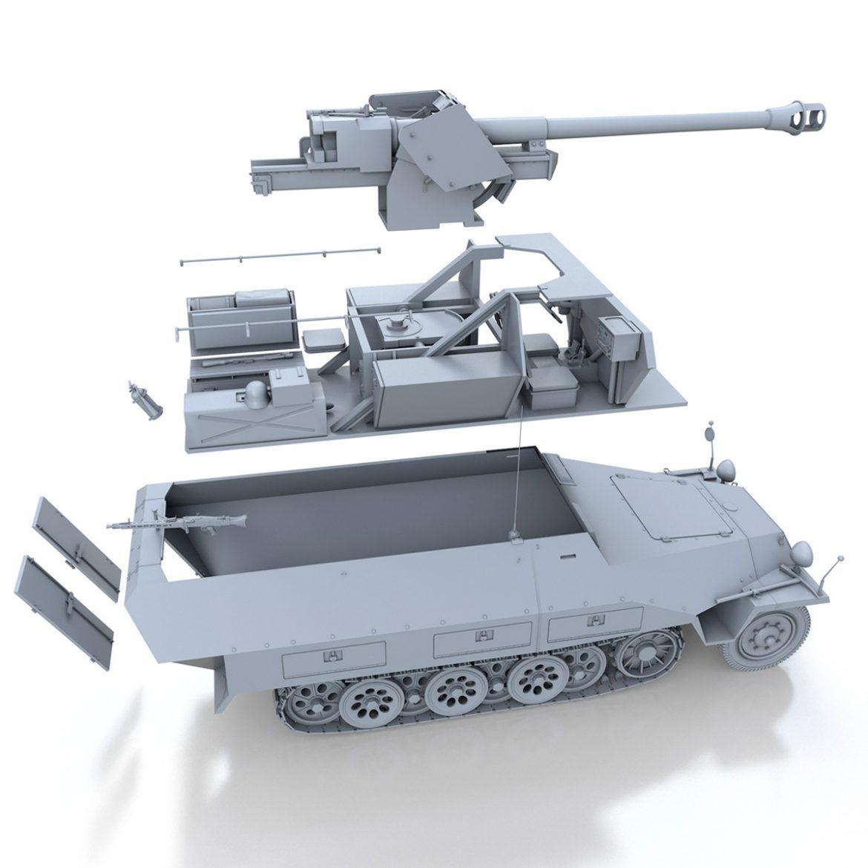sd.kfz 251/22 – ausf.d – pakwagen 3d model 3ds fbx c4d lwo obj 299603