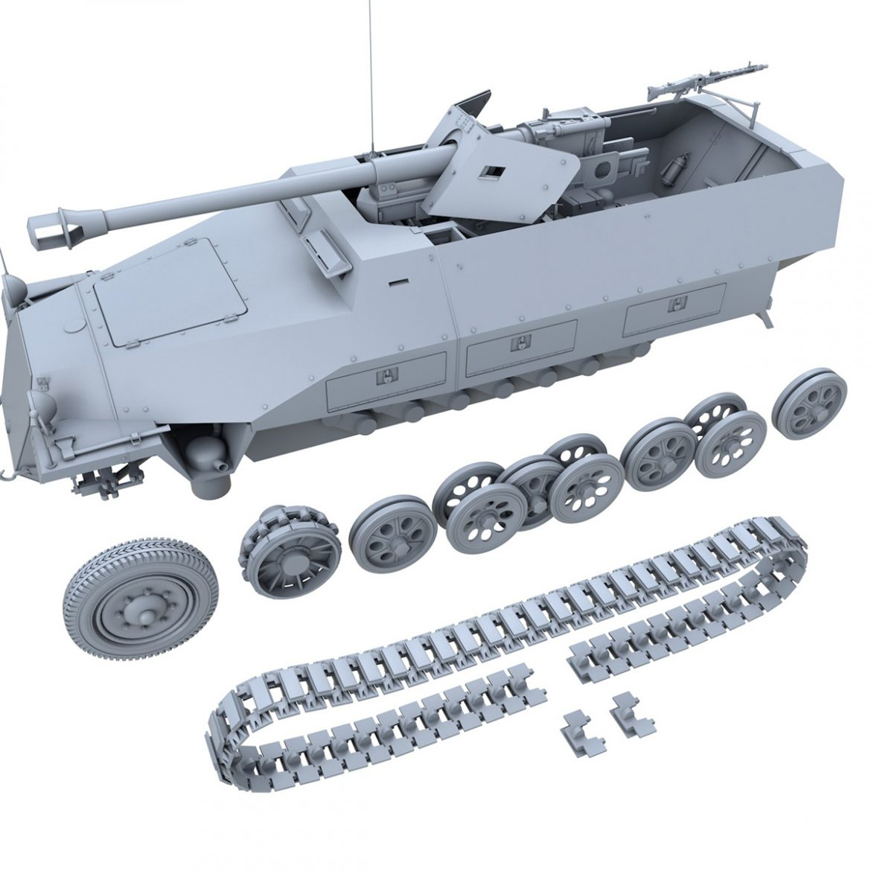 sd.kfz 251/22 – ausf.d – pakwagen 3d model 3ds fbx c4d lwo obj 299604