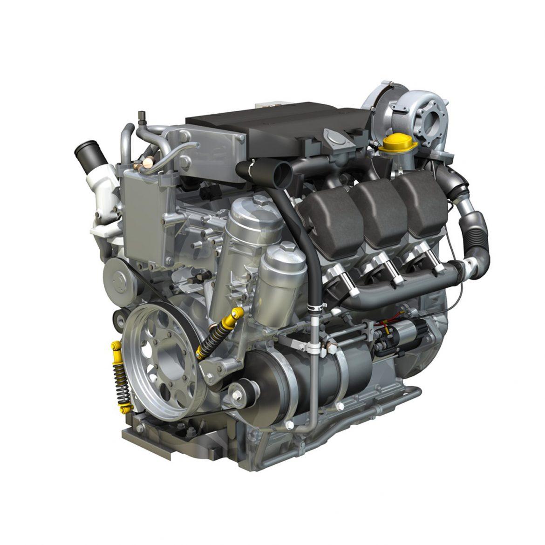 diesel turbo – 6-cylinder engine 3d model 3ds fbx c4d lwo obj 299637