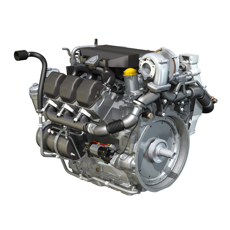diesel turbo – 6-cylinder engine 3d model 3ds fbx c4d lwo obj 299638