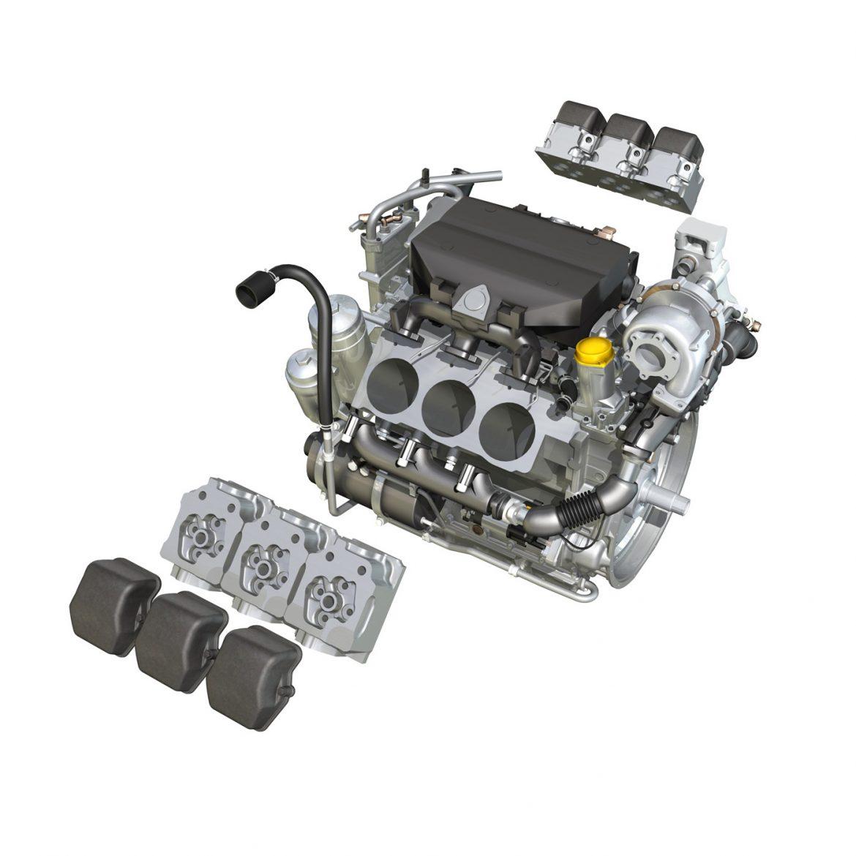 diesel turbo – 6-cylinder engine 3d model 3ds fbx c4d lwo obj 299643