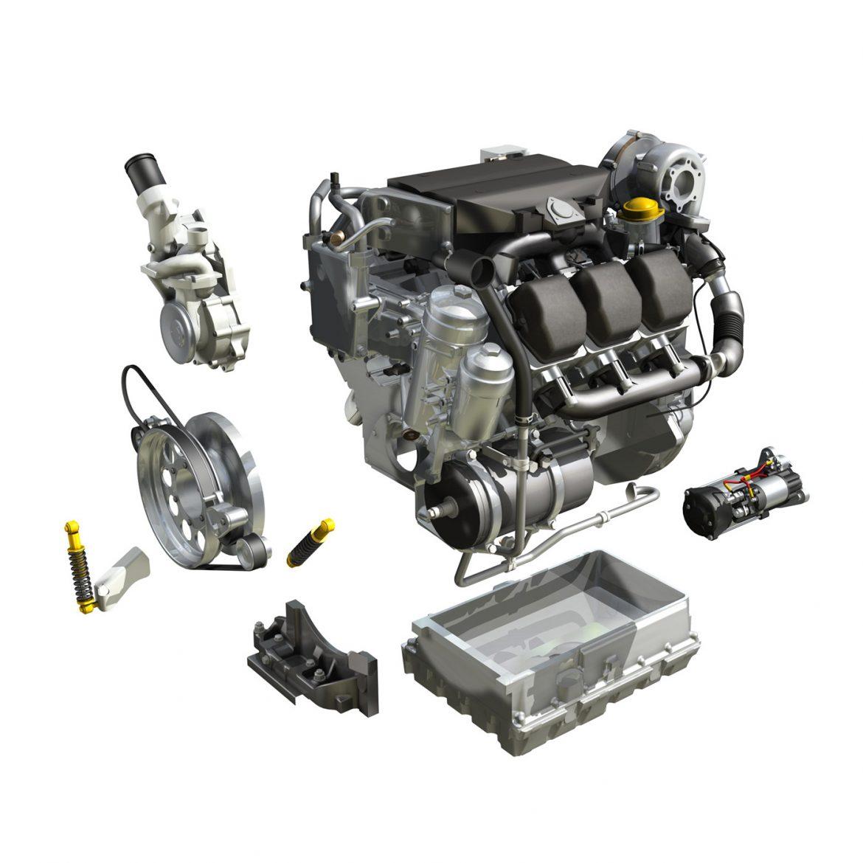diesel turbo – 6-cylinder engine 3d model 3ds fbx c4d lwo obj 299644