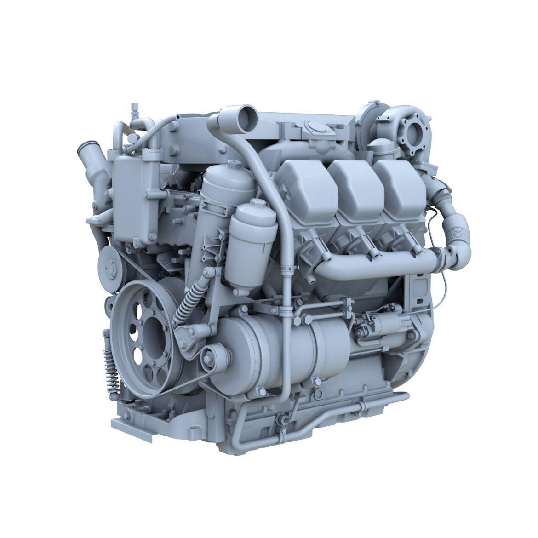 diesel turbo – 6-cylinder engine 3d model 3ds fbx c4d lwo obj 299646
