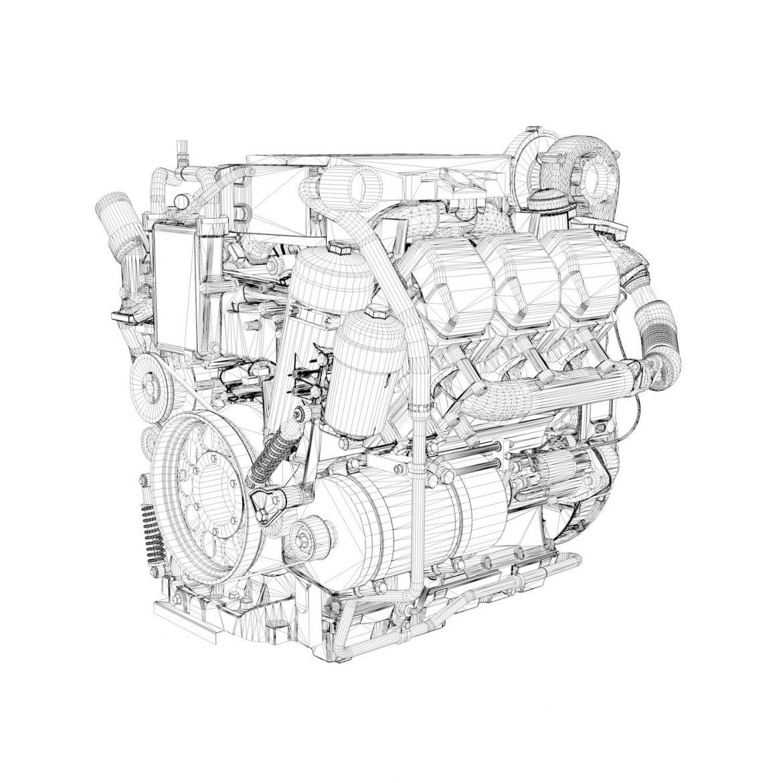 diesel turbo – 6-cylinder engine 3d model 3ds fbx c4d lwo obj 299647