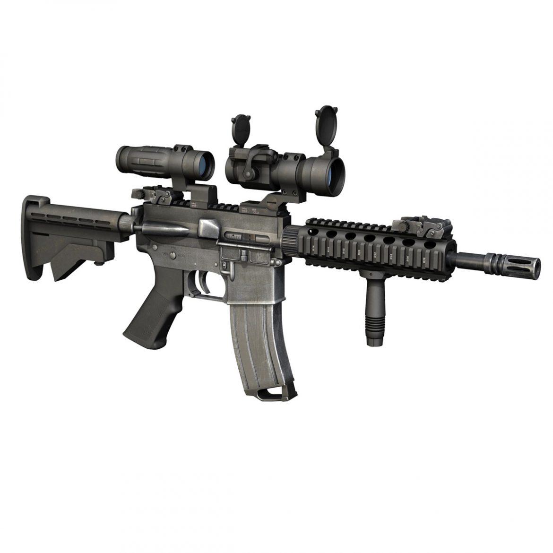 colt m4a1 - sopmod - aimpoint 3d загвар c4d 3ds fbx lwo lws obw 299654