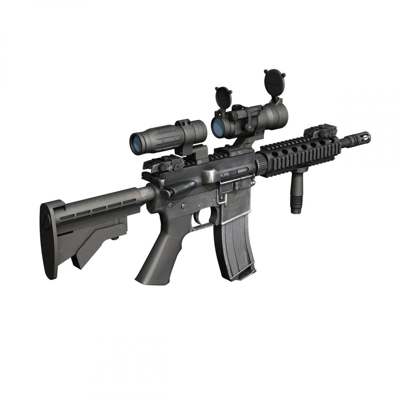 colt m4a1 - sopmod - aimpoint 3d загвар c4d 3ds fbx lwo lws obw 299655