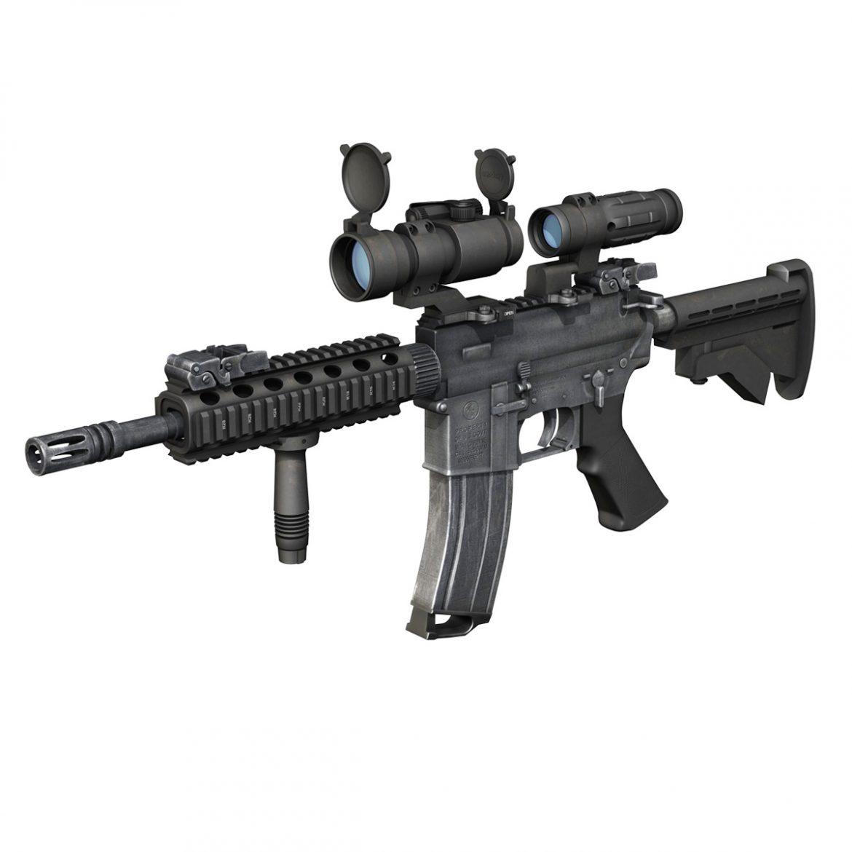 colt m4a1 - sopmod - aimpoint 3d загвар c4d 3ds fbx lwo lws obw 299657