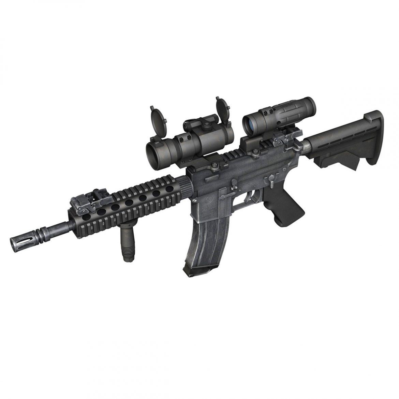 colt m4a1 - sopmod - aimpoint 3d загвар c4d 3ds fbx lwo lws obw 299659