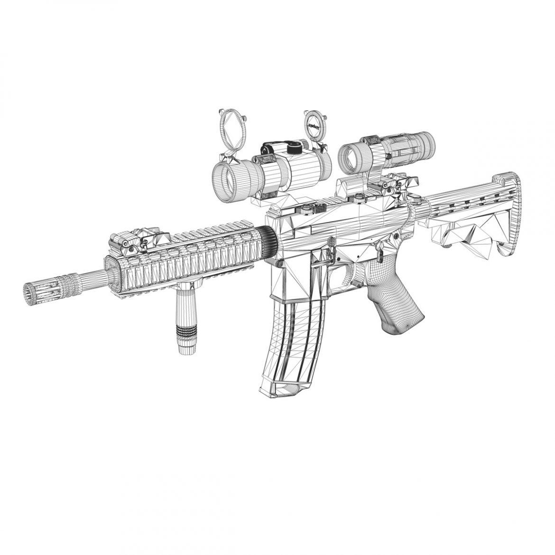 colt m4a1 - sopmod - aimpoint 3d загвар c4d 3ds fbx lwo lws obw 299665