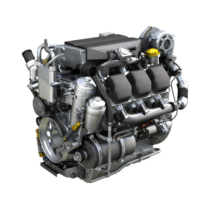 diesel turbo engine with interior parts 3d model 3ds fbx c4d lwo obj 299689