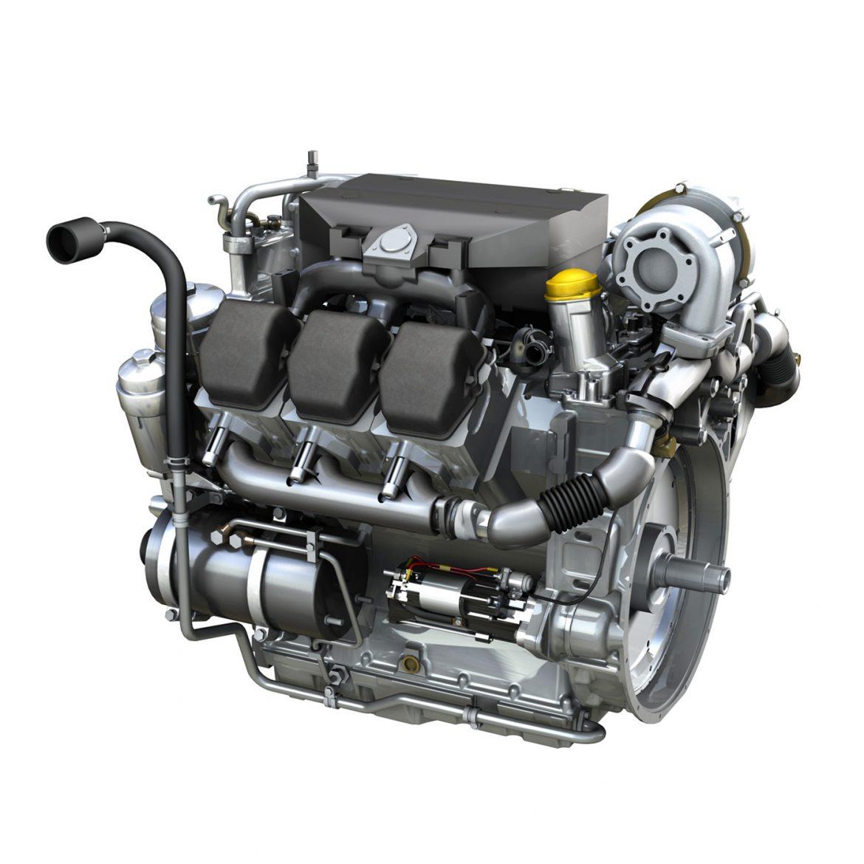 diesel turbo engine with interior parts 3d model 3ds fbx c4d lwo obj 299690