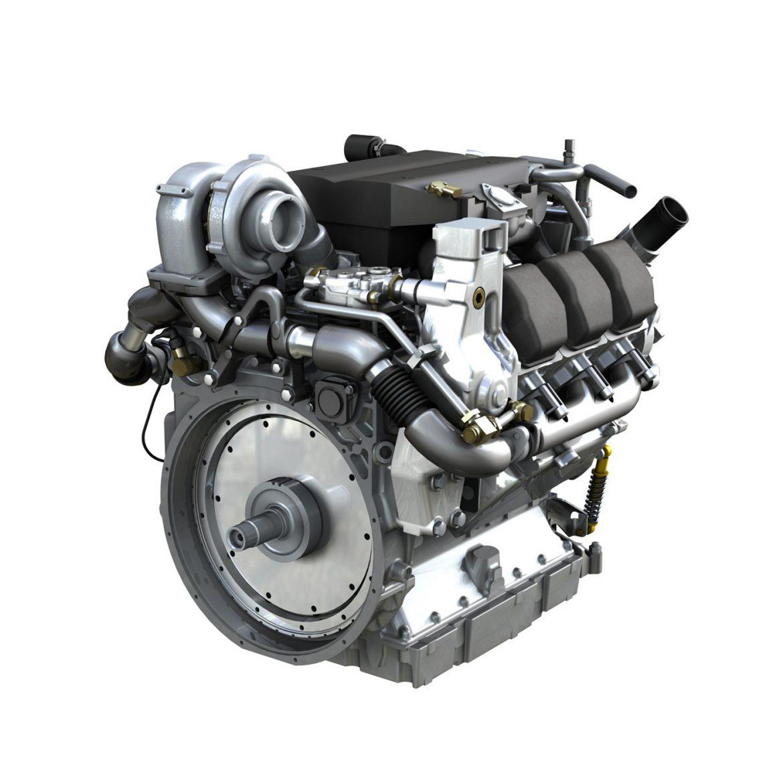 diesel turbo engine with interior parts 3d model 3ds fbx c4d lwo obj 299691