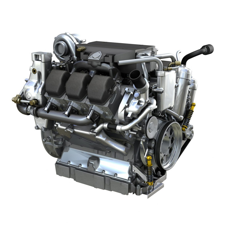 diesel turbo engine with interior parts 3d model 3ds fbx c4d lwo obj 299692