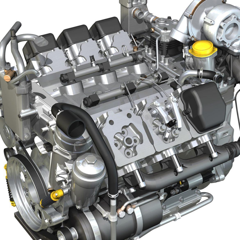 diesel turbo engine with interior parts 3d model 3ds fbx c4d lwo obj 299695