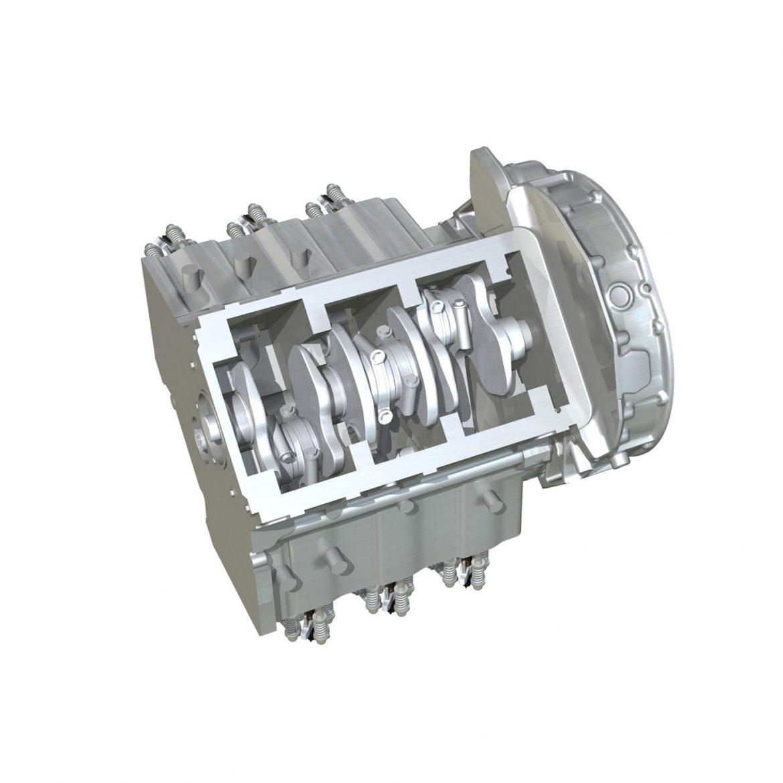 diesel turbo engine with interior parts 3d model 3ds fbx c4d lwo obj 299699