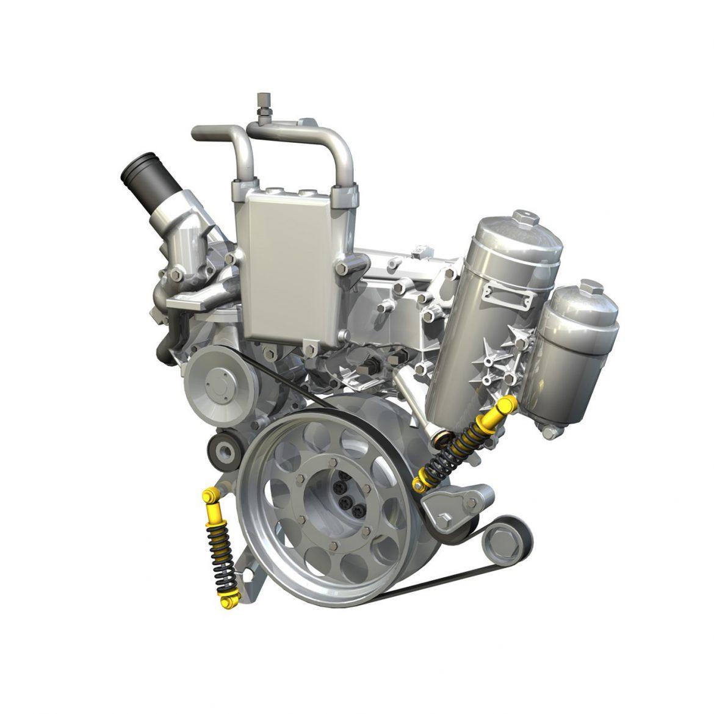 diesel turbo engine with interior parts 3d model 3ds fbx c4d lwo obj 299702