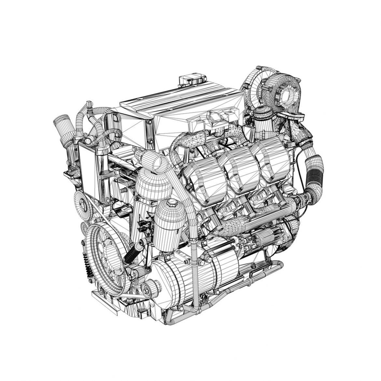 diesel turbo engine with interior parts 3d model 3ds fbx c4d lwo obj 299705