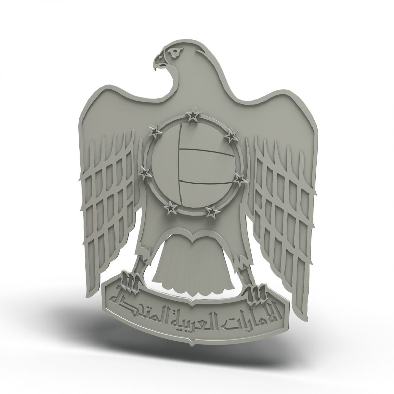 emblem of the united arab emirates 3d model 3ds c4d lwo obj 299825