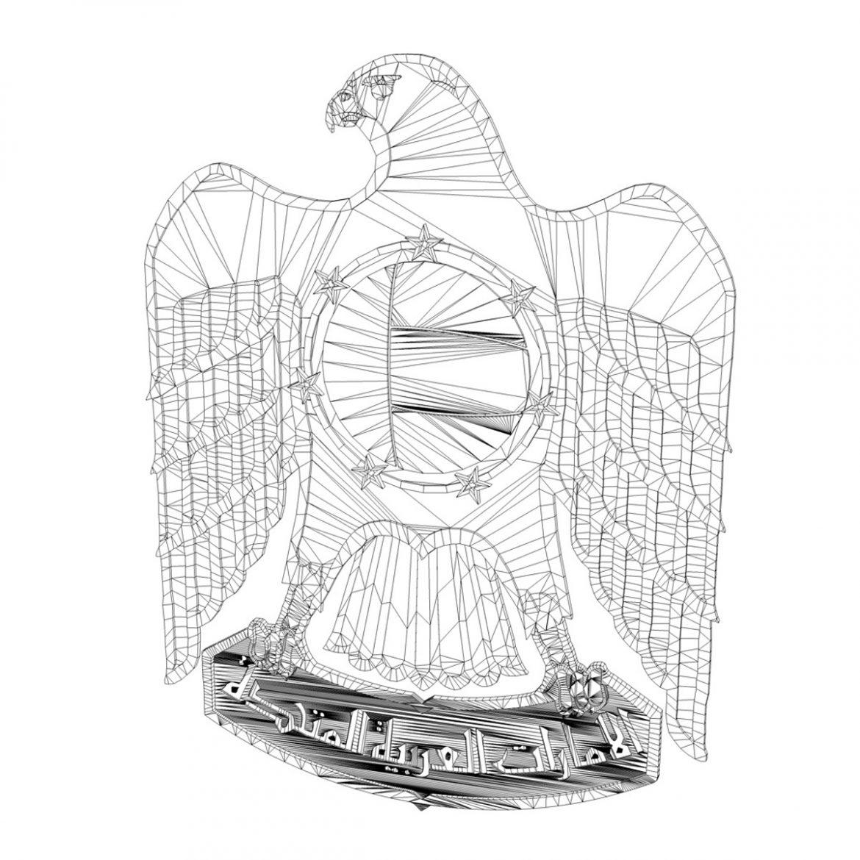 emblem of the united arab emirates 3d model 3ds c4d lwo obj 299826