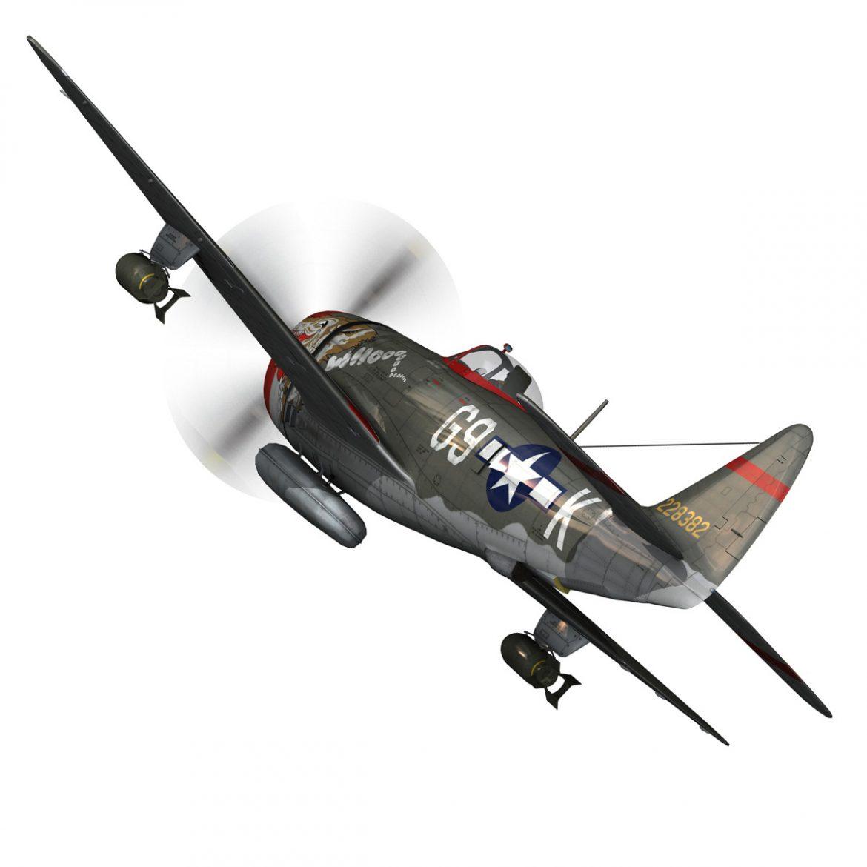 republic p-47d thunderbolt – whoo… 3d model fbx c4d lwo obj 299859