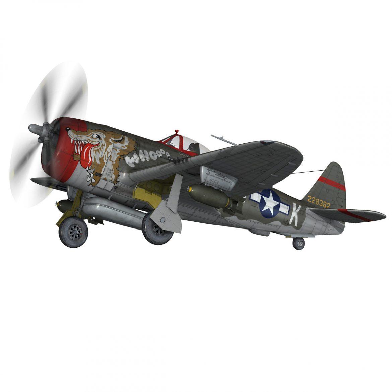 republic p-47d thunderbolt – whoo… 3d model fbx c4d lwo obj 299862
